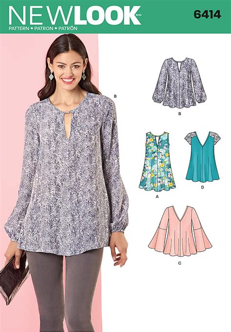 New Look 6414 Misses' Tunic Tops