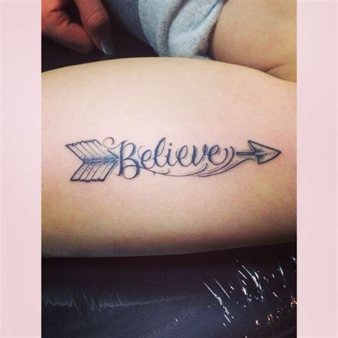small believe tattoos believe and arrow i it ideas