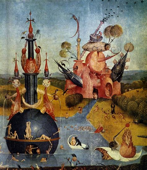 hieronymus bosch garden of triptych of garden of earthly delights detail by bosch