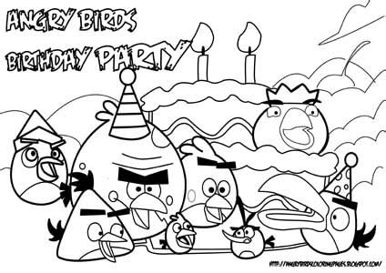angry birds birthday coloring pages angry birds pigs coloring pages getcoloringpages com