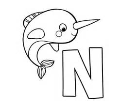 narwhal coloring page n of narwhal coloring page coloringcrew