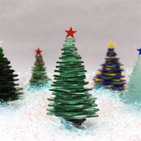 Making Christmas Ornaments - free stacked glass trees project guide winter holidays delphi