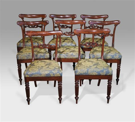 8 antique dining chairs set of 8 mahogany dining chairs