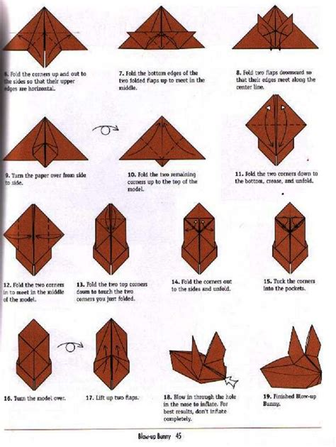 Origami Rabbit Diagram - bunny