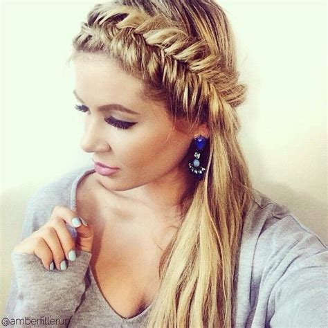 easy to make open hairstyles fishtail started from behind the ear and open up once