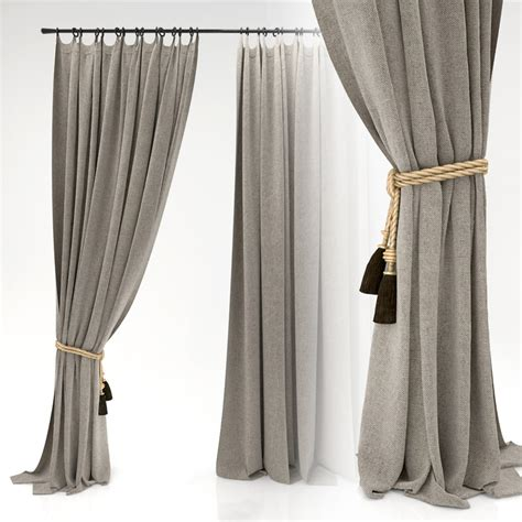 curtain models 3d model curtains fabric