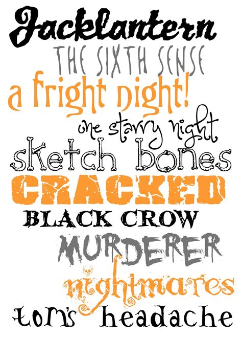 printable scary fonts 10 free halloween fonts for you color me meg