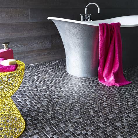 modern bathroom vinyl flooring why choose mosaic effect vinyl flooring for your bathroom