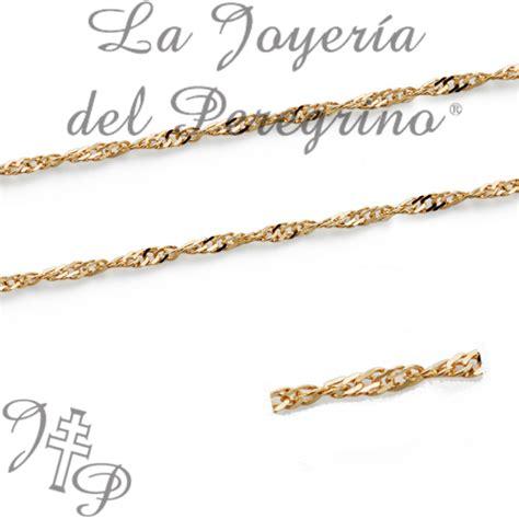 cadenas de oro para bebes precios cadena de oro de ley 18 klt la joyeria del peregrino