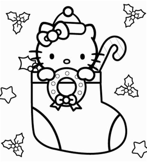 coloring pages of hello kitty christmas christmas cat coloring pages best toys collection