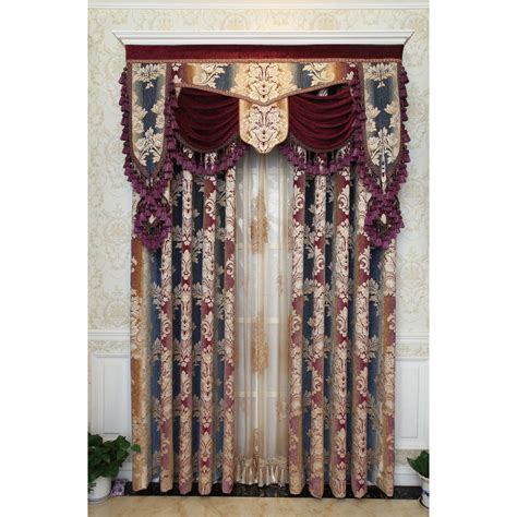 brown floral curtains brown floral embroidery chenille valance custom curtains