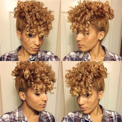Mohawk With Flex Rods | curly mohawk mohawks and flexi rods on pinterest