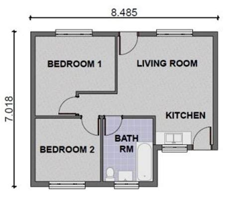 home designs 2 bedroom house plans modern efficient