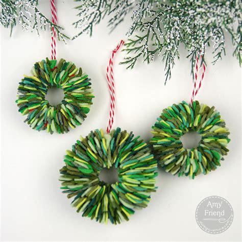 felt wreath felt wreath ornaments during time