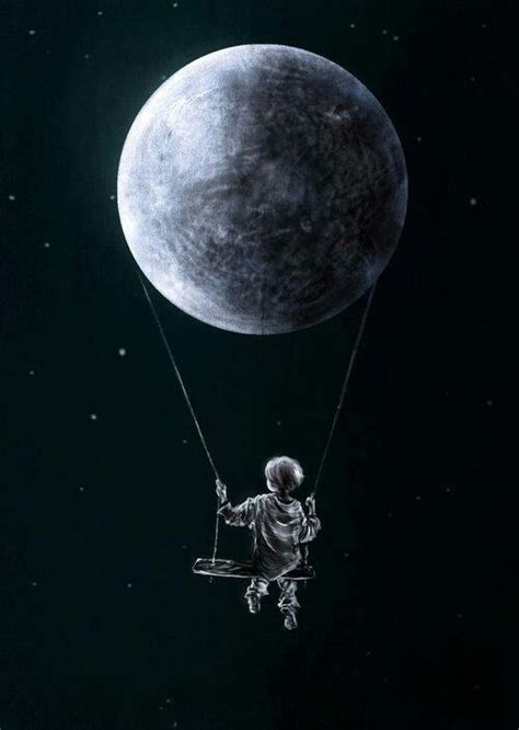 swinging on the moon swing by the moon never let life kill your spark