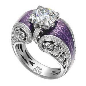 purple wedding rings ring with purple ornaments jewelery