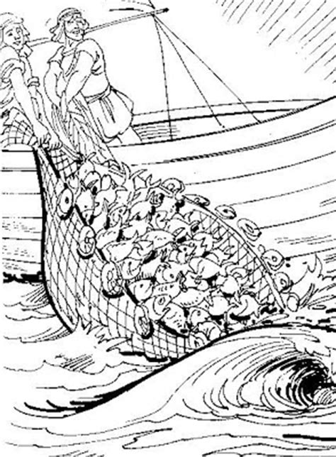 coloring page of disciples fishing disciples catch fish coloring page colorings net