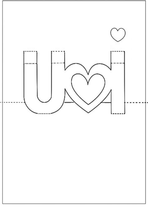 i you pop up card template printable come fare un cuore pop up biglietto fai da te per san