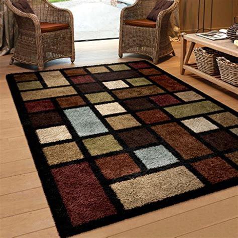 Area Rugs 5 X 6 Orian Rugs Geometric Color Grid Multi Area Rug 5 3 X 7 6 Area Rugs Shop