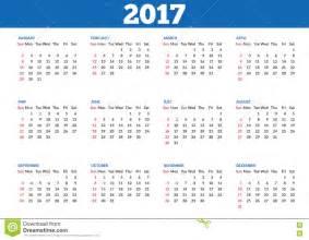 Simple Calendar Simple Calendar 2017 Template Stock Vector Image 71107527