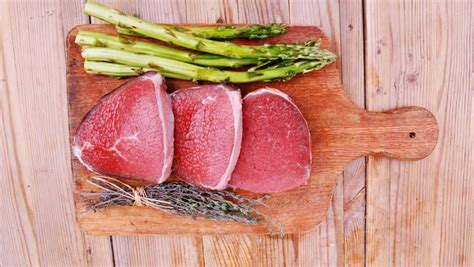 food beef fillet on cutting board with