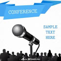conference free poster template vector free download