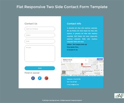 Contact Form Flat Responsive Two Side Template 2017 Arrayform It Is Html5 And Css3 Use Tow Html5 Template Free 2017