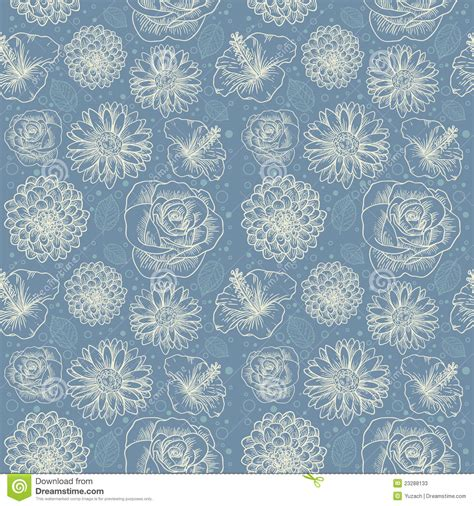 a seamless repeating retro floral floral seamless retro pattern stock photos image 23288133