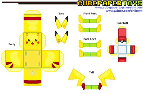 Pikachu Papercraft Template - paper crafts templates printable