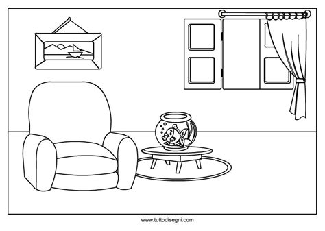disegno interno casa casa disegno da colorare tuttodisegni
