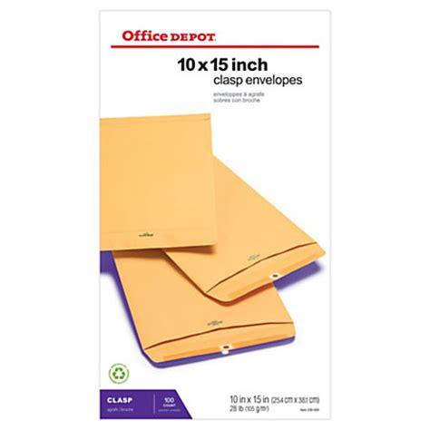 Office Depot Envelopes Office Depot Brand Clasp Envelopes 10 X 15 Brown Box Of