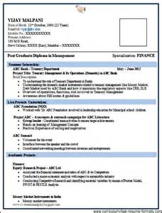 Free Resume Format For Freshers Professional Resume Format For Freshers Doc Free Samples
