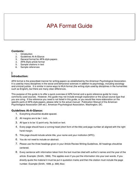 apa method section exle best photos of book review sle apa paper apa style