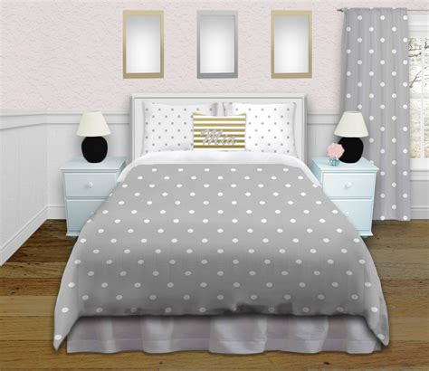 tween girls bedding tween girls gray polka dot bedding set comes in king