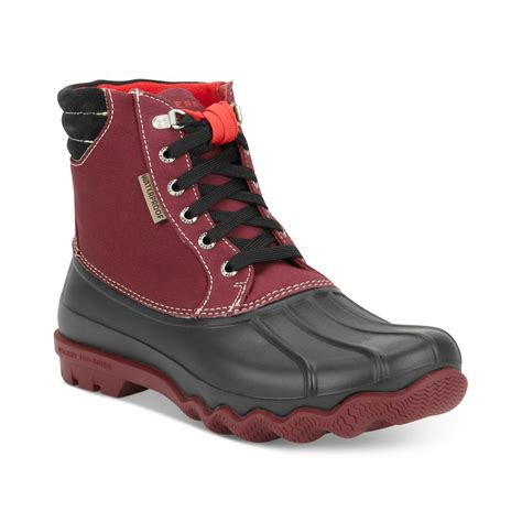 duck boots for sperry top sider avenue duck boots in for oxblood