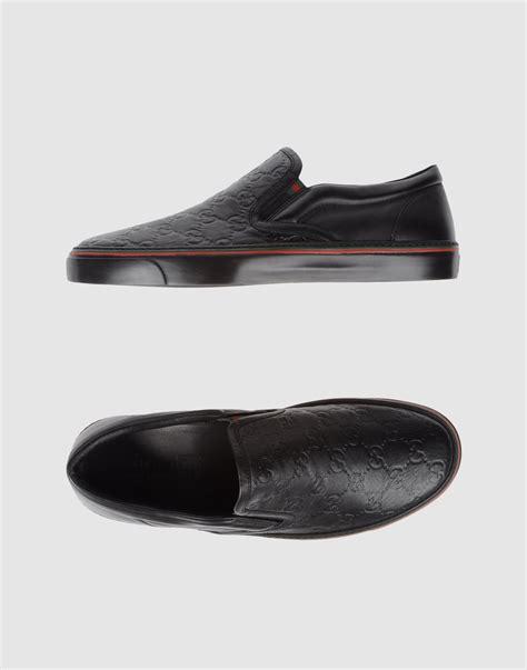 slip on sneaker for gucci slip on sneaker in black for lyst