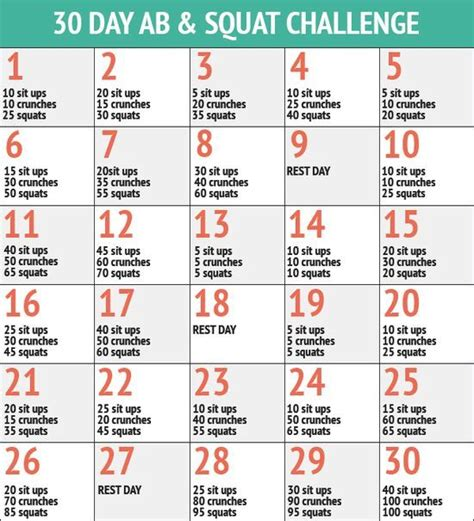 20 best ideas about 60 day challenge on pinterest 30 25 best ideas about ab and squat challenge on pinterest