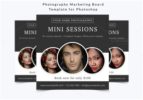 Photography Marketing Board Template Flyer Templates On Photography Promotion Templates