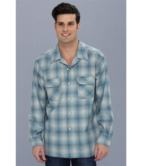 Bord Blue Blouse pendleton ls board shirt in blue for lyst
