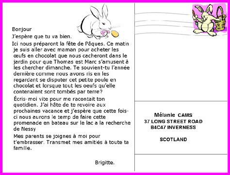 Exemple De Lettre Postale 6 Carte Postale En Anglais Exemple Lettre