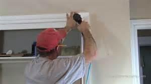 how to install window door trim casing