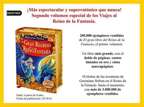 libro en el reino de el gran regreso al reino de la fantas 237 a de geronimo stilton pintando una mam 225