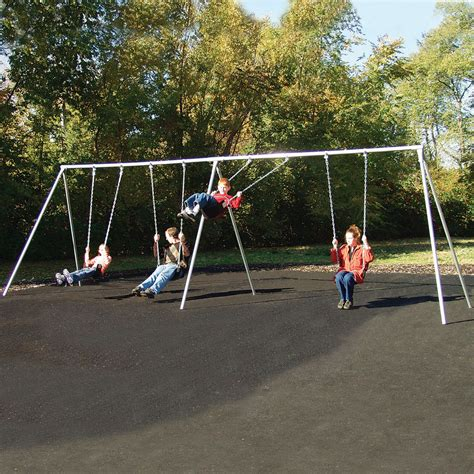 Metal Swing Sets - sportsplay standard metal swing set commercial
