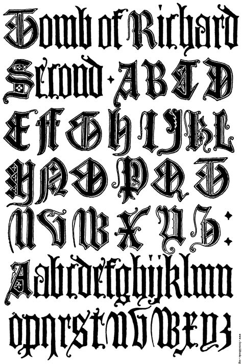 medieval tattoo font generator 179 english gothic letters 15th century f c b