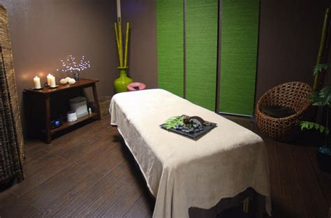 spa room ideas tranquil massage room love the punch of green