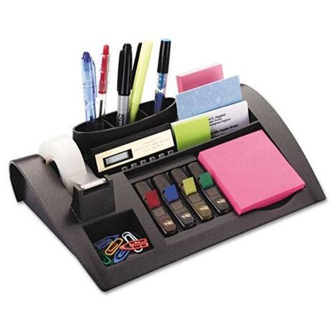 post it desk organizer 3m post it c50 desk organizer set brown