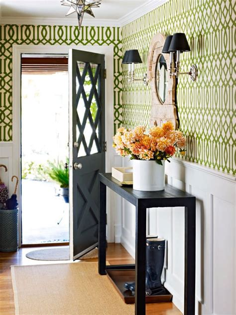 colorful entryway wallpaper this weeks top bhg pinterest color inspiration four