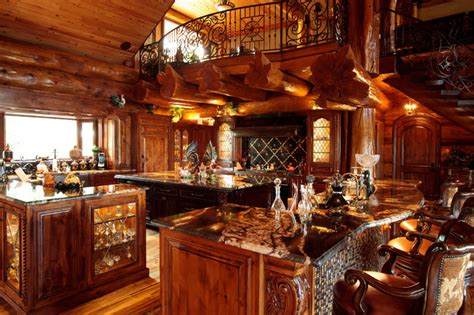awesome log cabin rustic kitchen dallas by lighting