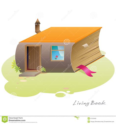 the book house living book house stock vector image 57370420