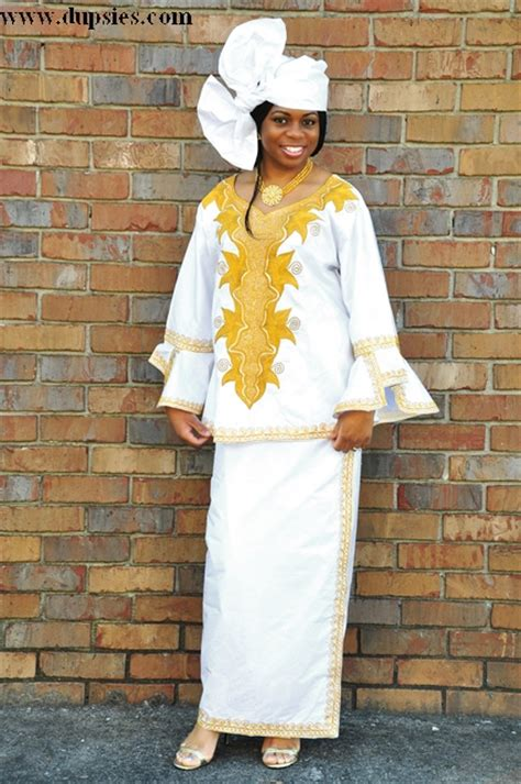 senegalese african dresses for women stunning white brocade wrap set with special senegalese
